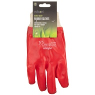 Rolson Heavy Duty Rubber Gloves - Red