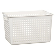 Large Spot Storage Basket - White