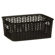 Chevron Storage Basket - Black