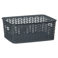 Chevron Storage Basket - Grey
