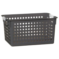Small Spot Storage Basket - Grey