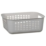 Rectangular Storage Basket with Handles - Grey