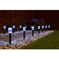 Mini Solar Light Posts 20pk - White