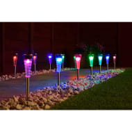 Mini Solar Spiral Light Posts 20pk - Colour Changing
