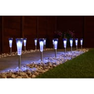Mini Solar Spiral Light Posts 20pk - White