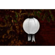 Fabric Lantern Solar Light - White
