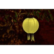 Fabric Lantern Solar Light - Yellow