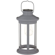 Solar Lantern with Micro LED Bulb - Grey