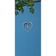 3D Metal Stake & Crystal - Heart