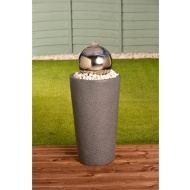 Stainless Steel Gazing Ball Water Feature