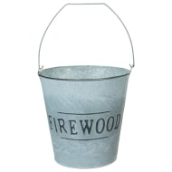Galvanised Firewood Bucket