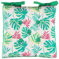 Luxury Printed Seat Pad - Tropical Leaf