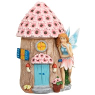 Garden Fairy House Ornament - Blue