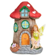 Garden Fairy House Ornament - Green