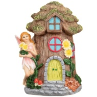 Garden Fairy House Ornament - Pink