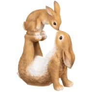 Large Kissing Bunny Ornament - Brown
