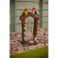 Solar Light Bird Wind Chime - Purple Flowers
