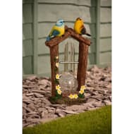Solar Light Bird Wind Chime - Yellow Flowers
