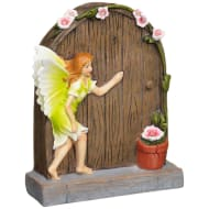 Solar Light Fairy Door - Green
