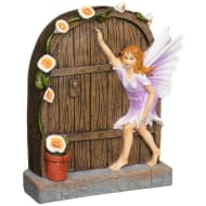 Solar Light Fairy Door - Purple