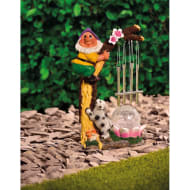 Solar Light Gnome Wind Chime - Purple Hat
