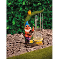 Solar Light Gnome Wind Chime - Blue Hat
