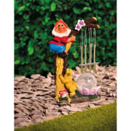Solar Light Gnome Wind Chime - Orange Hat