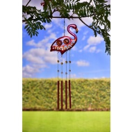 Tubular Wind Chime - Flamingo