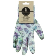 Mason & Jones Latex Coated Gloves - Purple Flowers