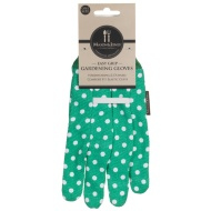 Mason & Jones Easy Grip Gardening Gloves - Green Polka Dot