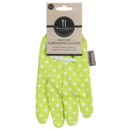 Mason & Jones Easy Grip Gardening Gloves - Lime Polka Dot