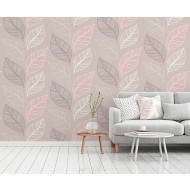 Elba Wallpaper - Blush/Taupe