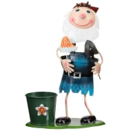 Garden Gnome with Planter - Blue