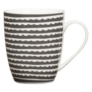 Patterned Mug - Scallop Dark Grey