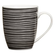 Patterned Mug - Black Stripe