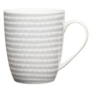 Patterned Mug - Scallop Grey