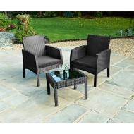 Bali Rattan Armchair Bistro Set 3pc
