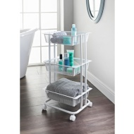 Spaceways 3 Tier Storage Trolley - White