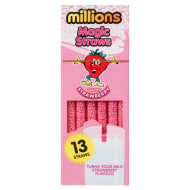 Millions Magic Straws 13pk - Strawberry