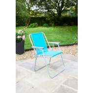 Contract Garden Chair - Blue