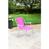 Contract Garden Chair - Pink