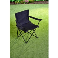 Folding Camping Chair with Cup Holder - Black