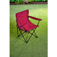 Folding Camping Chair with Cup Holder - Burgundy