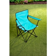 Folding Camping Chair with Cup Holder - Blue