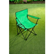 Folding Camping Chair with Cup Holder - Green