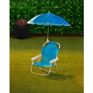 Children's Garden Chair & Parasol - Blue