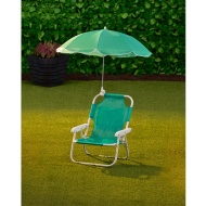 Children's Garden Chair & Parasol - Green