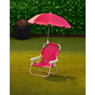 Children's Garden Chair & Parasol - Pink