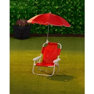 Children's Garden Chair & Parasol - Red