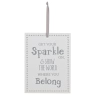 Diamante Decorative Plaque - Get Your Sparkle On